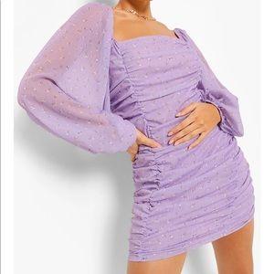 NWT BOOHOO - Ruched Mini Dress